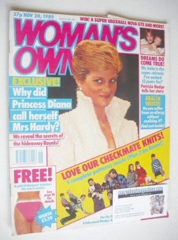 <!--1989-11-20-->Woman's Own magazine - 20 November 1989 - Princess Diana c