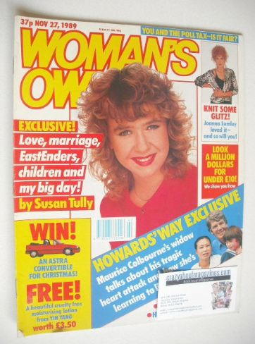 <!--1989-11-27-->Woman's Own magazine - 27 November 1989 - Susan Tully cove
