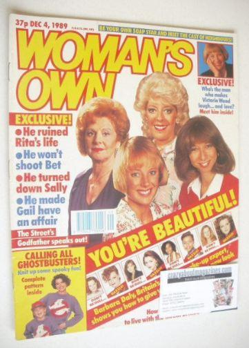 <!--1989-12-04-->Woman's Own magazine - 4 December 1989 - Coronation Street