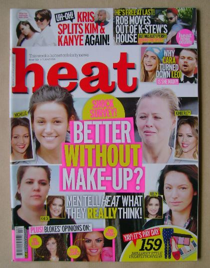<!--2013-06-01-->Heat magazine - Better Without Make-Up? cover (1-7 June 20