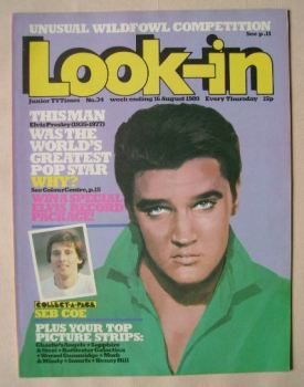 Look In magazine - Elvis Presley cover (16 August 1980)