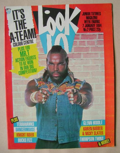 <!--1984-01-07-->Look In magazine - Mr. T cover (7 January 1984)