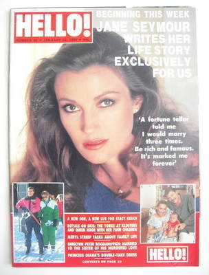 <!--1989-01-28-->Hello! magazine - Jane Seymour cover (28 January 1989 - Is
