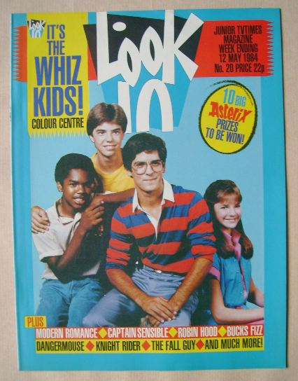 <!--1984-05-12-->Look In magazine - Whiz Kids cover (12 May 1984)