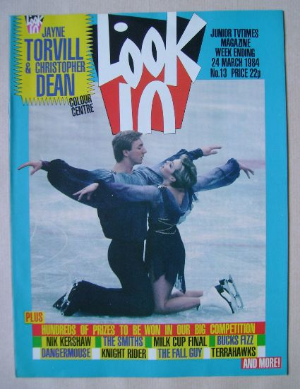 <!--1984-03-24-->Look In magazine - Jayne Torvill and Christopher Dean cove