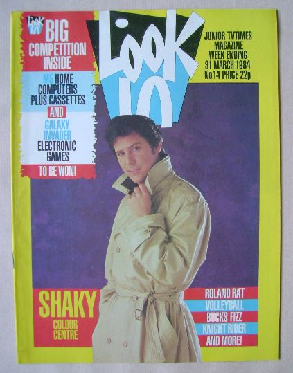 <!--1984-03-31-->Look In magazine - Shakin' Stevens cover (31 March 1984)