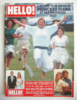 <!--1989-07-08-->Hello! magazine - Princess Diana cover (8 July 1989 - Issu