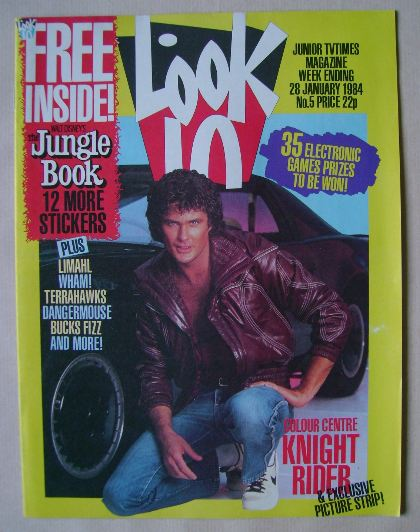 <!--1984-01-28-->Look In magazine - David Hasselhoff cover (28 January 1984