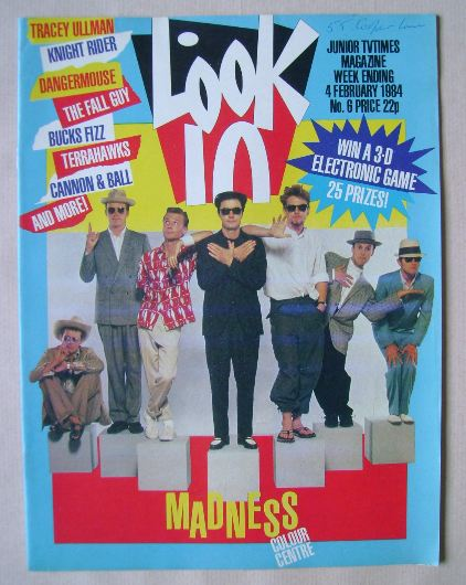 <!--1984-02-04-->Look In magazine - Madness cover (4 February 1984)