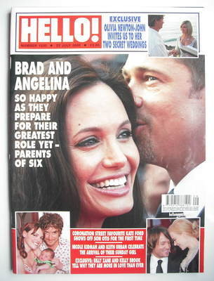 <!--2008-07-22-->Hello! magazine - Brad Pitt and Angelina Jolie cover (22 J