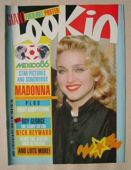 <!--1986-05-31-->Look In magazine - Madonna cover (31 May 1986)
