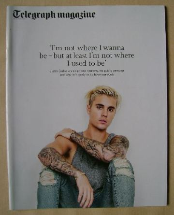 <!--2015-10-31-->Telegraph magazine - Justin Bieber cover (31 October 2015)