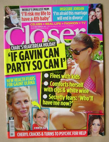 <!--2010-07-03-->Closer magazine - Charlotte Church cover (3-9 July 2010)