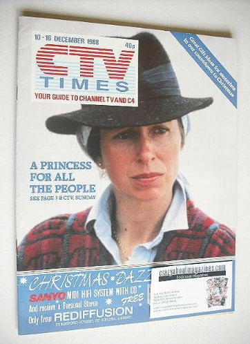 <!--1988-12-10-->CTV Times magazine - 10-16 December 1988 - Princess Anne c