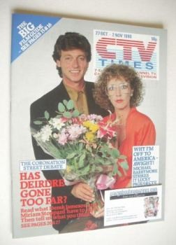 CTV Times magazine - 9-15 March 1991 - Tommy Boyle and Anne Kirkbride cover