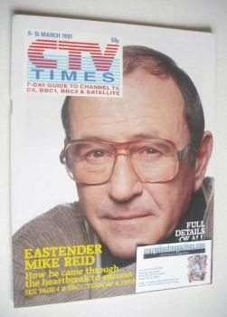 CTV Times magazine - 9-15 March 1991 - Mike Reid cover