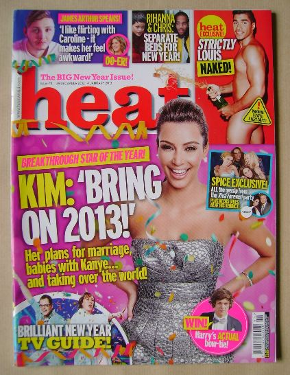 <!--2012-12-29-->Heat magazine - Kim Kardashian cover (29 December 2012 - 4