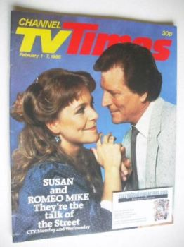 CTV Times magazine - 1-7 February 1986 - Wendy Jane Walker and Johnny Briggs cover