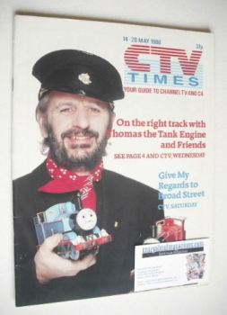 CTV Times magazine - 14-20 May 1988 - Ringo Starr cover