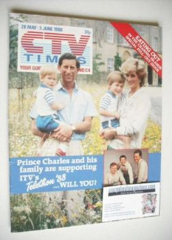 CTV Times magazine - 28 May - 3 June 1988 - Prince Charles and family cover