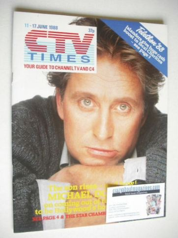 <!--1988-06-11-->CTV Times magazine - 11-17 June 1988 - Michael Douglas cov
