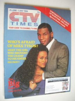 CTV Times magazine - 25 June - 1 July 1988 - Mike Tyson and Robin Givens cover