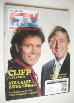 CTV Times magazine - 2-8 July 1988 - Michael Parkinson and Cliff Richard cover