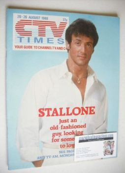 CTV Times magazine - 20-26 August 1988 - Sylvester Stallone cover