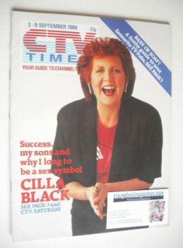 CTV Times magazine - 3-9 September 1988 - Cilla Black cover