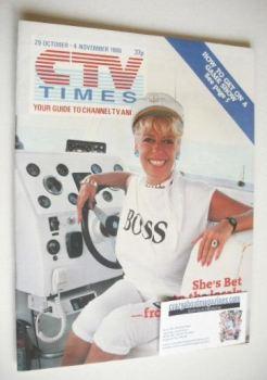 CTV Times magazine - 29 October - 4 November 1988 - Julie Goodyear cover