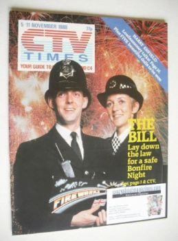 CTV Times magazine - 5-11 November 1988 - The Bill cover