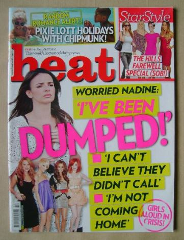 <!--2010-08-14-->Heat magazine - Girls Aloud cover (14-20 August 2010)