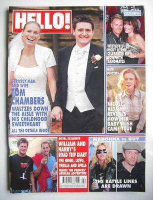 <!--2008-11-04-->Hello! magazine - Tom Chambers wedding cover (4 November 2