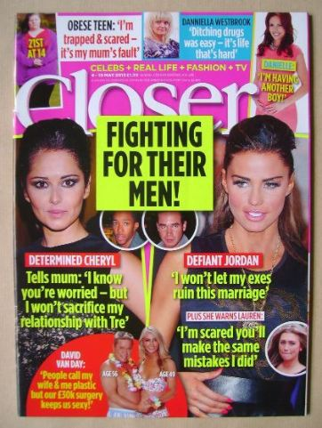 <!--2013-05-04-->Closer magazine - Fighting For Their Men! cover (4-10 May