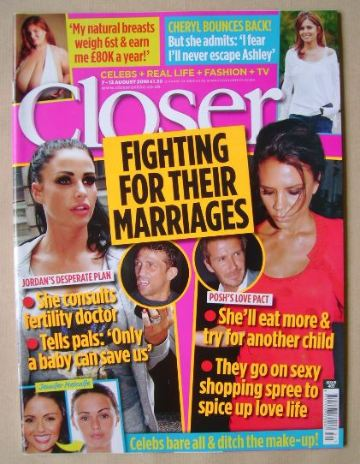 <!--2010-08-07-->Closer magazine - Fighting For Their Marriages cover (7-13