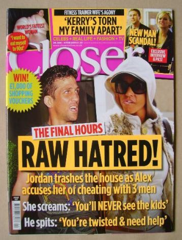 <!--2011-01-29-->Closer magazine - Raw Hatred! cover (29 January - 4 Februa