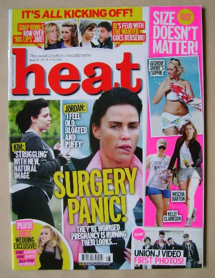 <!--2013-04-20-->Heat magazine - Surgery Panic! cover (20-26 April 2013)