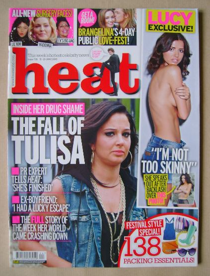 <!--2013-06-15-->Heat magazine - Tulisa Contostavlos cover (15-21 June 2013
