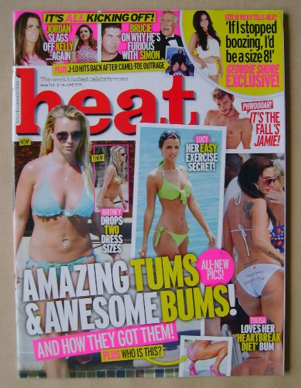<!--2013-06-08-->Heat magazine - Amazing Tums & Awesome Bums! cover (8-14 J