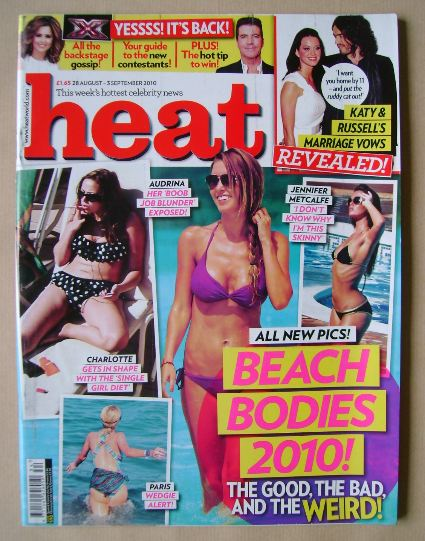 <!--2010-08-28-->Heat magazine - Beach Bodies 2010! cover (28 August - 3 Se