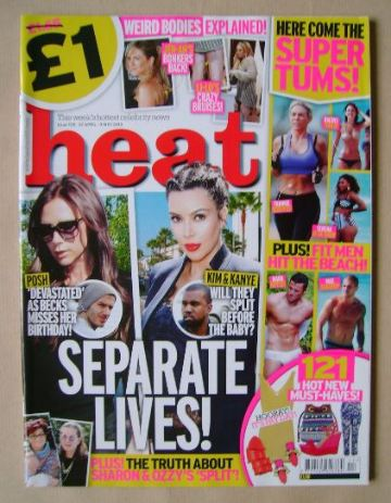 <!--2013-04-27-->Heat magazine - Separate Lives! cover (27 April - 3 May 20