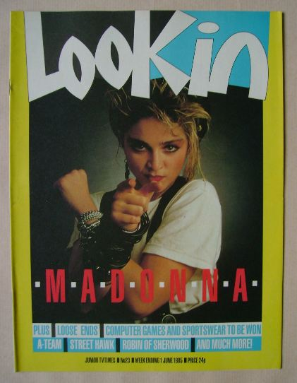 <!--1985-06-01-->Look In magazine - Madonna cover (1 June 1985)