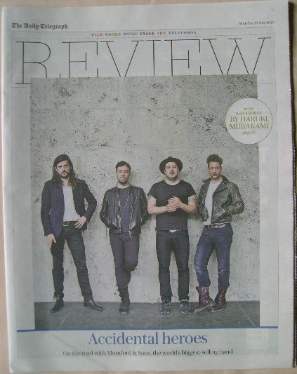 The Daily Telegraph Review newspaper supplement - 25 July 2015 - Mumford &
