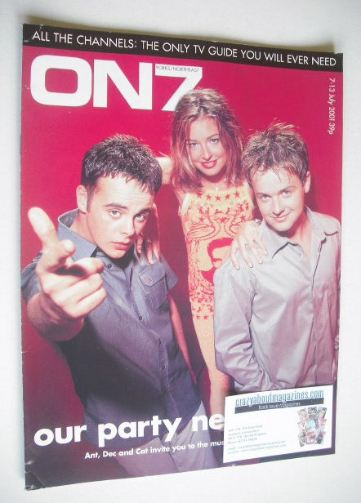 <!--2001-07-->ON7 magazine - July 2001 - Ant, Dec and Cat Deeley cover