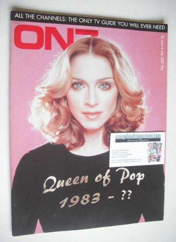 <!--2001-07-->ON7 magazine - July 2001 - Madonna cover