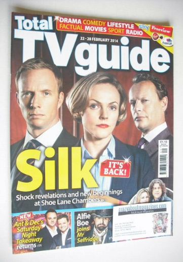 <!--2014-02-22-->Total TV Guide magazine - Silk cover (22-28 February 2014)