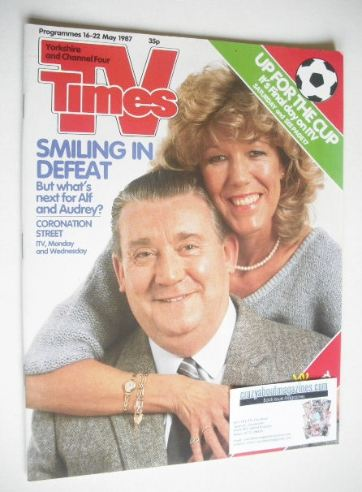 <!--1987-05-16-->TV Times magazine - Alf and Audrey cover (16-22 May 1987)