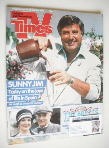<!--1987-10-10-->TV Times magazine - Jimmy Tarbuck cover (10-16 October 198
