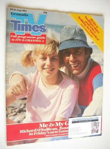 <!--1984-08-25-->TV Times magazine - Me & My Girl cover (25-31 August 1984)