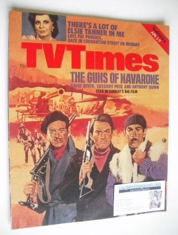 <!--1976-04-03-->TV Times magazine - The Guns Of Navarone cover (3-9 April